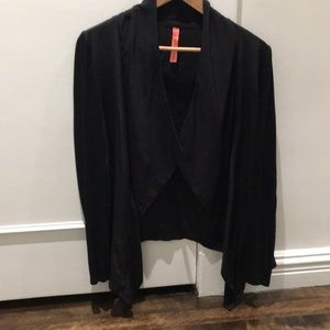 Eight and Sixty black silk blouse